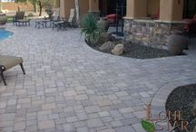 Textures and Patterns / This gallery shows the different types of pavers and tiles used in landscapes in the Phoenix area.  Different styles and patterns are shown to illustrate the details that can be created.