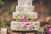 Torte nuziali con motivo floreale