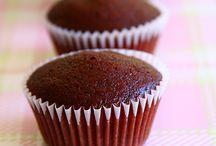 red velvet egg less cupcake