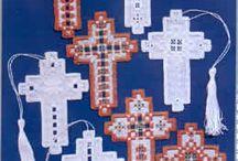 Hardanger kruisjes, engelen, bladwijzers / Hardanger kruisjes, engelen, bladwijzers