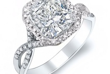 Cushion Cut Engagement Rings / CUSHION CUT ENGAGEMENT RINGS have ranked as one of the most popular engagement ring styles in the past few years.  Here is a few design that have become our customer's favorites :)  / by DIAMOND MANSION CO. Unique Engagement Rings