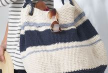 Summer knitted bags