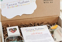 Packaging for Photographers / selections of labels, folders, cards for business packaging.