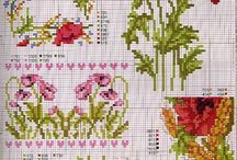 X-stitch Poppies