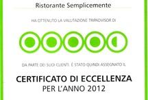 Certificati Tripadvisor Ristoranti e Pizzerie