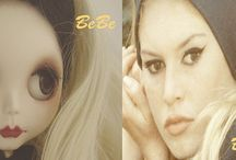 "My Custom Blythe Doll"" Brigitte Bardot"" Model"