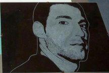 GRAVURE SUR VERRE les portraits / gravure sur verre d'un portrait