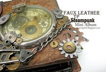 ALBUMS: STEAMPUNK / Ideas & tutorials for making steampunk themed art and albums. I  absolutely love steampunk.