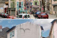 Street art / diverses peintures sur murs et escaliers... toutes plus belles les unes que les autres !!