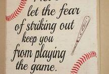 Softball/baseball decor