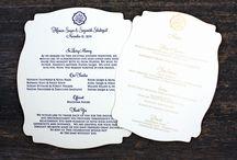 MENUKAARTEN - papier / Bord vol ideetjes rond lasergesneden papieren menukaarten.