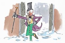 The many faces of Mr Willy Wonka / Willy Wonka is a character from #RoaldDahl's Charlie and the Chocolate Factory, and Charlie and the Great Glass Elevator. / by Roald Dahl