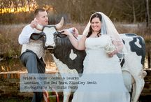 Red Barn Wedding / Lauren and Jodan's Red Barn Wedding by Chris Perry Photography seen on http://www.british-bride.co.uk