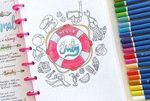 DIARY IDEAS ☆ - summer, vacation