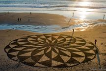 Land and sand art