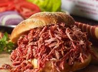 Dry Rub BBQ /   We use our special dry rub seasoning on our smoked meats.  No wet barbecue sauce to deal with.  Smoked meat is already cooked for your convenience.  All you have to do is heat and enjoy!
