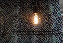Decoração de padrões e candeeiros suspensos vintage(arames) / Candeeiros e padrões vintage,étnicos.
