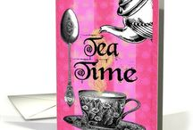 Tea Time / One Lump or Two? / Cards and Invitations of Tea Cups and Tea Parties for inspired sipping - pinkies out!