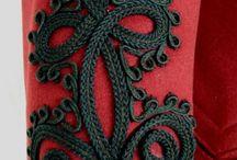 Вышивка шнуром и бисером