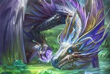 Dragons / And other dragon-like creatures.