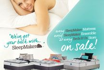 APRIL 2016 SLEEPMAKER / We've got your back! Every SleepMaker Mattress Every SleepMaker Ensemble at Every Beds R Us store on Sale!