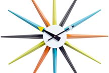 Mod Wall Clocks / Surrounding yourself with mid century modern designs at any time of day!
