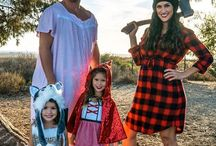 Halloween Costumes + Crafts / Halloween costumes for the family and fun halloween craft idea for kids. Make Halloween a fun family celebration.