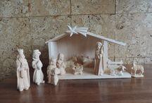 Betlémy - lipové dřevo / Chaloupky a figurky do betlému