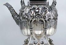 Серебряная,металлическая посуда