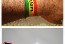 bracelets rasta / Rubber sillicone rasta leaf bracelets