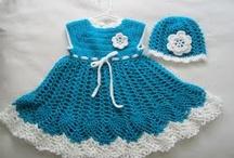 Vestidos em crochet menina - da net
