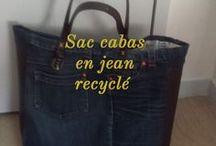 Sac en jean recycle