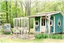 shed / by Steph Bargainfun