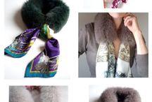 Шарфы и шарфики, шейные платочки - особый стиль