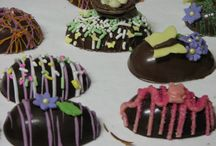 Chocolate easter eggs / Chocolate eggs  / by Catherine Cline