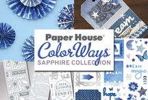 ColorWays Sapphire Collection / Sapphire is an eclectic and bohemian collection of blue.