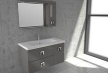 "FUNKY /  ""FUNKY"" BATHROOM FURNITURE,home,new,interior design,accesories,set,new,style,bath,tiles,product,idea,decoration,woman,mirror,porcelain,επιπλο μπανιου,μπανιο,νιπτηρας,καθρεπτης,πλακακια,idea,spa,architecture,decoration,white,MODERN,laminate,lack"
