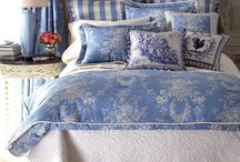 Country blue bedroom