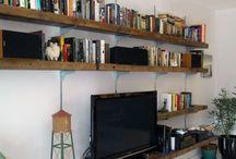 tv ve kitaplık