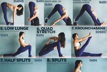 Flexibility, yoga, workout