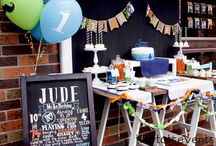 Silk and Cedar Events: Little Man Party / Little Man first birthday party styled and created by Silk and Cedar Events