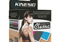 Kinesio Tape / Kinesio tape can be used to prevent injuries to various joints and muscle groups including the shoulder, hip, knee, ankle, wrist, back, and elbow