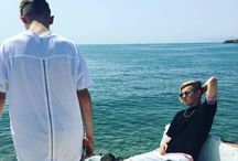 Mac and Tinus in Greece