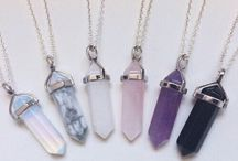 crystal necklesses