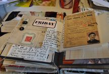 Art journals (journals and mixed media) / Journals are for keeping track of your everyday life, of your every thought, of your dreams and of your sorrows; why not make them special! / by Cheryl Lynskey