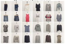 Capsule Wardrobe / Fall colors, mustard, navy or a bit brighter blue, sweaters, loose tops, statement jewelry, boots, flats, jeans.