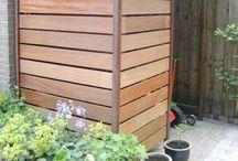wood horizontal balustrade