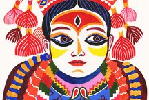 "Kumari Living Goddess Nepal / Origin: Kumari means: ""Princess"". The ladies of a king's harem are prisoners. Ladies can not visit the temple.  But on the goddess holiday, then one of the immature princess may visit the temple in a palanquin, as a representative of harm.  But one day the royal dynasty changes dynasty, so harem disappears, except the tradition of a young princess."