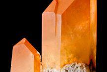 Orange Gemstones and Crystals.