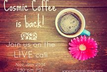 The Cosmic Coffee Hour / LIVE q&a calls with me, Kimberely Arana from Unshakable Soul. I'm a psychic-medium and shamanic healer with over 25 yrs experience in alternative modalities, from meditation to magic!  We talk about everything having to do with energy, healing, past lives, ghosts, reincarnation, chakras, meditation, the spiritual path with it's truths & challenges ... and so much more! Join us - it's FREE and fun!  :: CLICK HERE TO GET YOUR CALL IN DETAILS and JOIN US :: http://eepurl.com/GCYsH